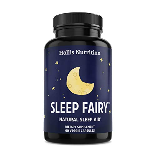 SLEEP FAIRY™ Natural Sleep Aid - Non-Habit Forming - Stress, Anxiety & Insomnia Relief Supplement - Herbal Sleeping Pills for Adults w/ Valerian Root, L-Theanine, Magnesium, Melatonin - 60 Vegan Caps