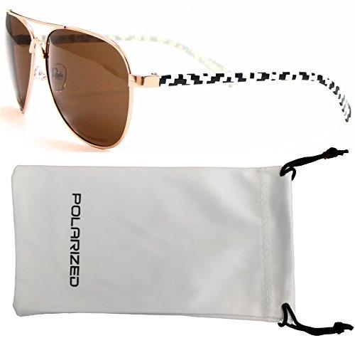 manera mujeres – Tribal blanco ámbar Negro Aviator – de armazón Navajo gafas VOX y Navajo Eyewear sol Azteca polarizados 18qdqPz