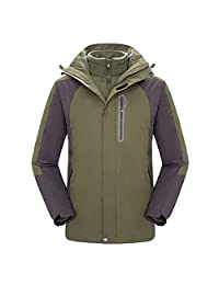 Topway Mens 3in1 Fleece Inner Jacket Hiking Skiing Camping Coat sports Hoodie