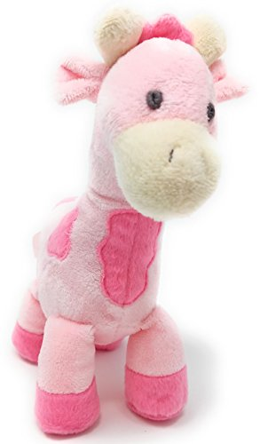 Joy Rattle Giraffe Pink 8