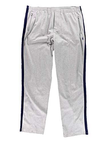 ns Big & Tall Interlock Athletic Track Pants (4LT, Gray/Navy) ()