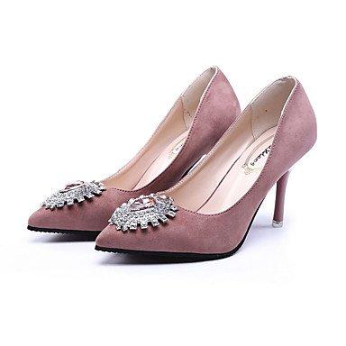 Le donne eleganti sandali Sexy Donna Stivali Autunno Inverno Comfort PU Abito casual Chunky Heel Zipper Lace-up marrone nero Borgogna , rosa , noi6.5-7 / EU37 / uk4,5-5 / CN37