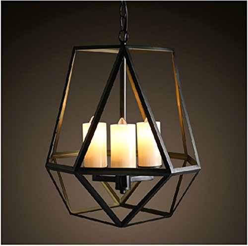 (Onfly American Retro Iron Art Pendant Lamp Industrial Style Led 4 Head Uplight Hanging Line Lamp Internet/cafe/restaurant/aisle Indoor Chandelier (Without Bulb))