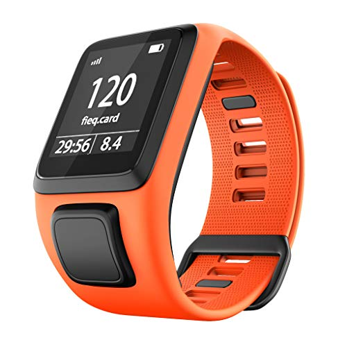 SAQIMA Watch Band Strap For TomTom Adventurer/Runner 2 3 / Spark 3 Replacement Silicone Fitness Fashion (Orange) ()