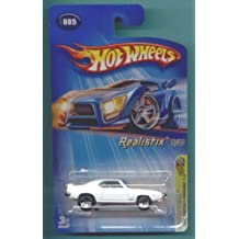Mattel Hot Wheels 2005 1:64 Scale White 1969 Pontiac Firebird Die Cast Car #005