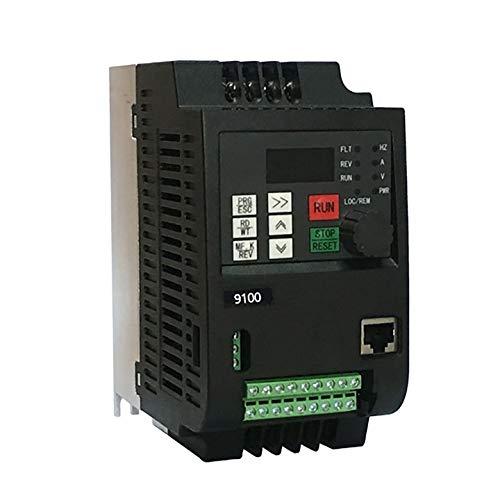 AgoHike 220V 2.2KW Single Phase Input 220V 3 Phase Output Durable 10A VFD Inverter ()