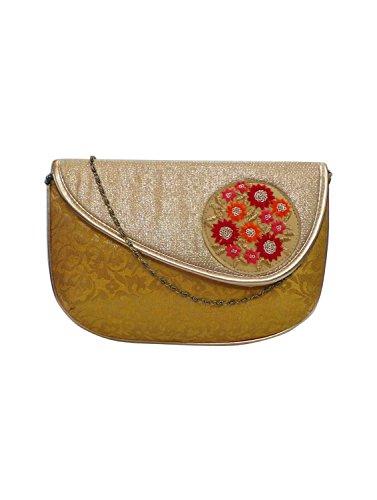 Bhamini, Damen Clutch Oro Oro Taglia Unica