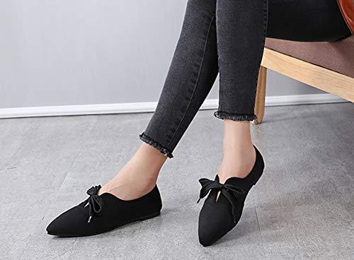 Ballerine Aisun Plat Travail Enceinte Femme Chaussures Noir Talon Casual UUvwTqa4