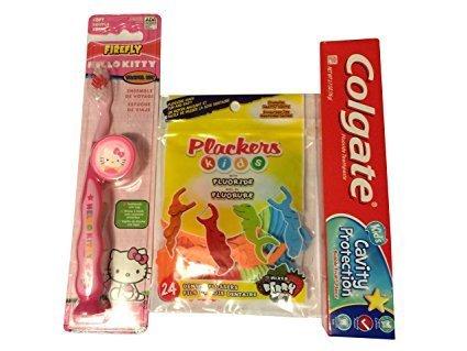 Hello Kitty Firefly Toothbrush Kit Bundle with Colgate Ki...