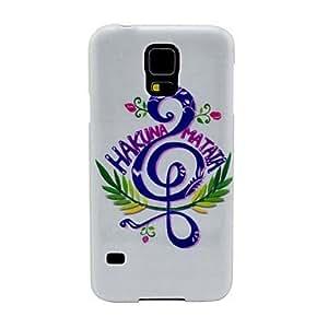 Zaki- Music Pattern TPU Soft Case Cover for Samsung Galaxy S5 I9600