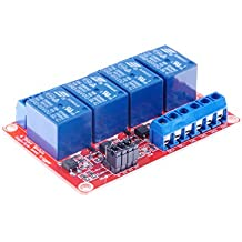 KNACRO 4-Channel Relay Module with Optocoupler isolation H / L high / low Level Triger for Arduino (5V)