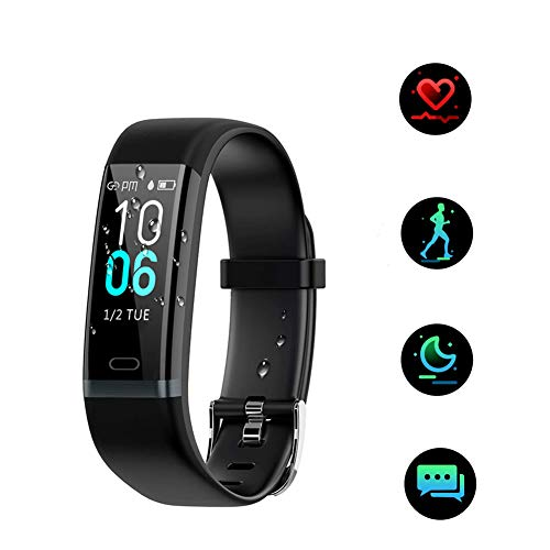 BASLO Fitness Tracker, Activity Tracker with Heart Rate Monitor, IP68 Waterproof Fitness Watch with Pedometer, Calorie Counter, GPS for Women Men Kids