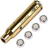 Laser Bore Sight Cal Red Dot Boresighter 223 5.56mm Laser Sight Rem Gauge with Four Batteries