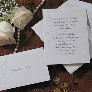 Birchcraft Wedding Invitations.Amazon Com Birchcraft Wedding Invitations T1620 Qty 100