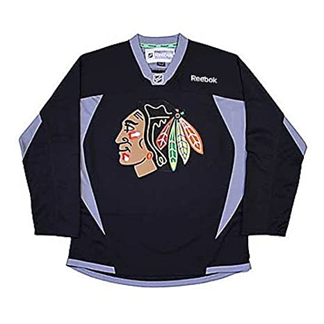 0c611e14 Youth Chicago Blackhawks Black Practice Jersey NHL Reebok Official  (Small/Medium)