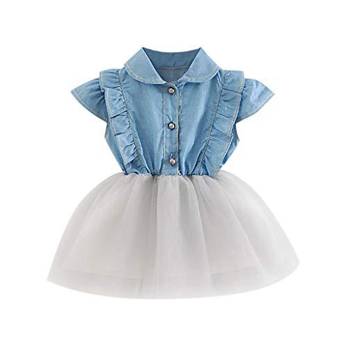 Qpika Toddler Infant Baby Girls Denim Tutu Tulle Princess Dresses Sundress Outfits 2019