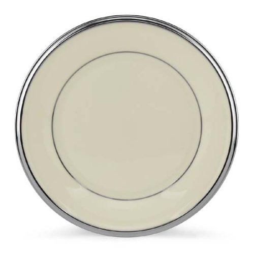 Lenox Solitaire Platinum Banded Ivory China Butter Plate