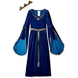 California Costumes Queen, Royalty, Renaissance, Medieval Princess Girls Costume, Royal Blue, X-Large