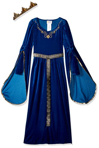 California Costumes Queen, Royalty, Renaissance, Medieval Princess Girls Costume, Royal Blue, X-Large ()