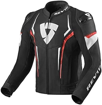 Revit Glide Three-season leather touring Motorcycle/Motorbike BLACK REDJacket -lth-9 (US 38 TO US 48, numeric_42)