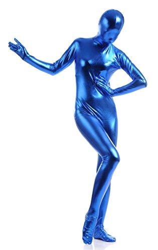 [VSVO Unisex Skin-tight Spandex Full Bodysuit for Adults and Children (Kids Medium, Deep Blue)] (Bodysuit Superman Adult Costumes)