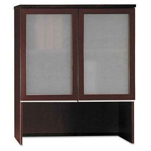 Right Lateral File Bow - BSH50HS36CS - Bush Milano2 Collection Bookcase Overhead with Glass Doors