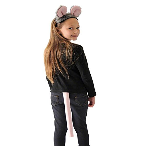 Gray Mouse Ears And Tail Costume (Mouse Ears and Tail Set for Children)