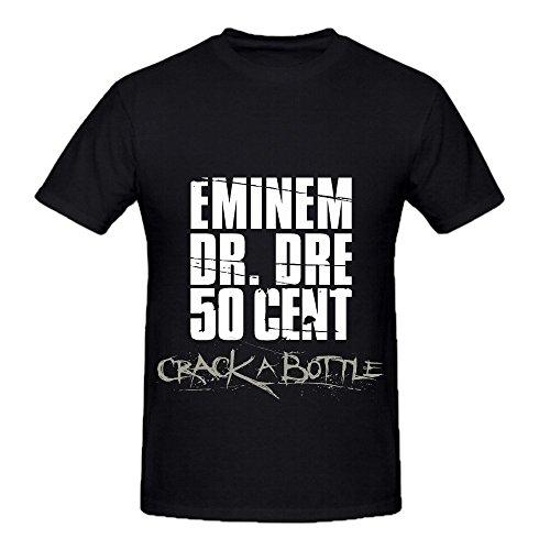 Dr Dre Crack A Bottle Tour Tracks Mens Crew Neck Short Sleeve Shirts Black (10th Doctor Dress)