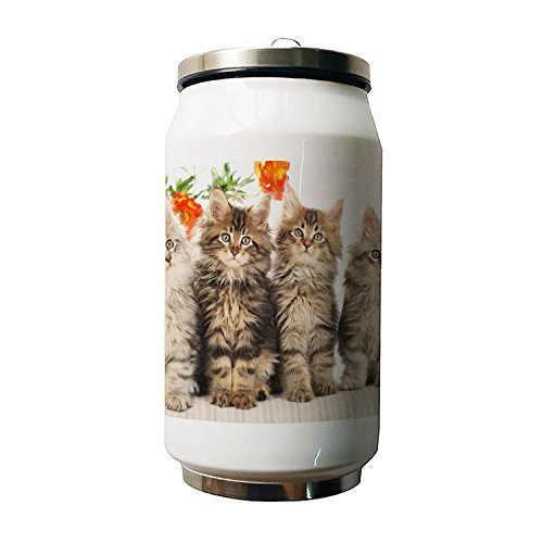 Kdnsgfds Cute Cats Double Vacuum Insulated Stainless Steel W