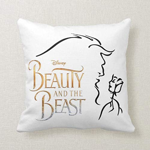 Superb Amazon Com Beauty And The Beast Pillow Square Pillow Forskolin Free Trial Chair Design Images Forskolin Free Trialorg