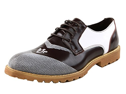 Minitoo , Chaussures à lacets homme - Marron - Marrone (Coffee/White), 40 EU