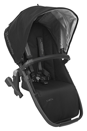 UPPAbaby VISTA RumbleSeat, Black/Carbon/Leather, Jake (Sunshade Seat 50 Car Upf)