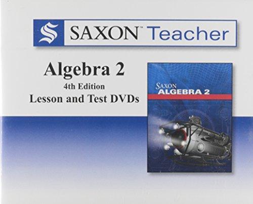 Saxon Homeschool Algebra 2, 4th Edition: Teacher DVD