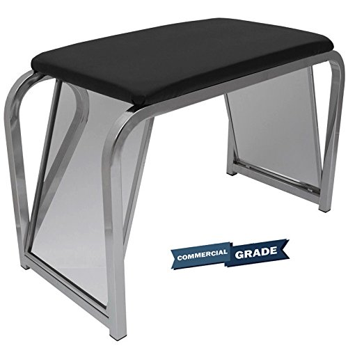 Only Hangers Shoe Fitting Bench with Black Padded Seat and Two Angled Mirrors by Only Hangers (Image #1)