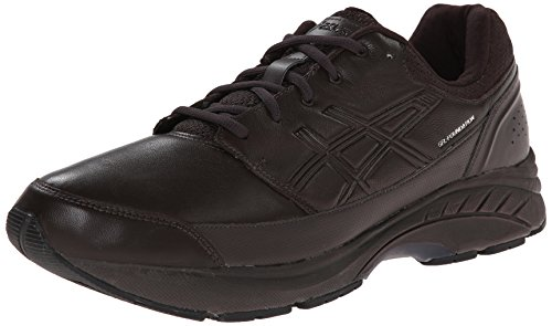 Asic Mens Gel-fundament Arbetsplats (4e) Walking Sko Mörkbrun / Svart