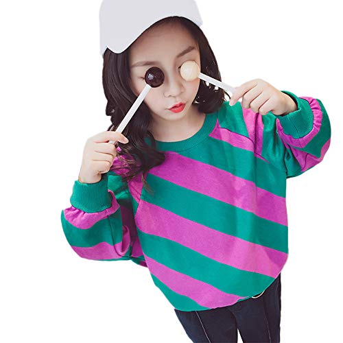 Baby Clothes Hangers Plastic,Toddler Kids Baby Boys Girls Stripe Contrast Color Diagonal Stripes Tops,Baby Girls' Layette Sets,Purple,150 ()