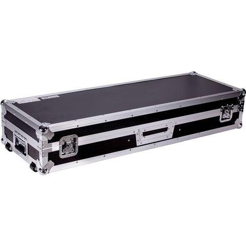 (DEEJAYLED TBH Flight DJ Coffin CASE for 2X Turntables in Standard Style Position +1X10'' Mixer (TBHDJ10WLT)