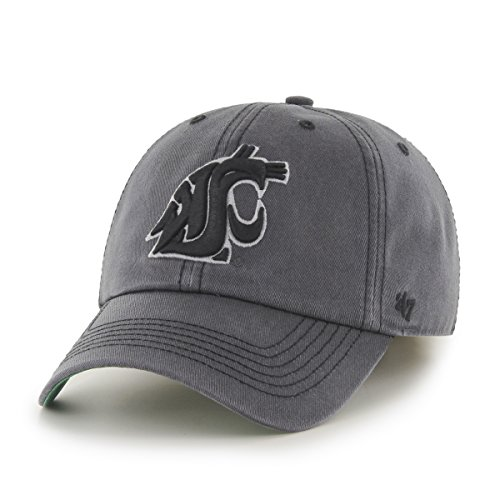 NCAA Washington State Cougars Sachem Franchise Fitted Hat, Small, Charcoal - Washington State University Clothing
