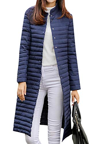1 Waterproof Button Maxi Overcoat Snap Women Midi and Padding XINHEO F1w4xUz7nq