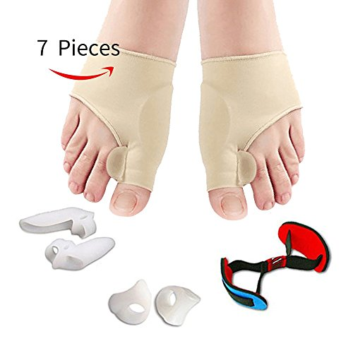 Bunion Corrector, Bunion Corrector Relief Sleeves Kit Gel Bunion Pads Cushion Bunion Protector of Toe Separators Spacers Straighteners splint for Hammer Toe, Tailors Bunion - Spacer Sleeve