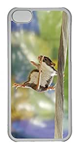 Customized iphone 5C PC Transparent Case - Jumping The Mice Cover
