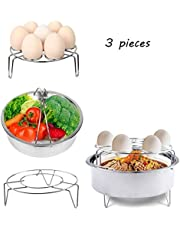 Instant Pot Accessories Steamer Basket, Egg Steamer Steamer Rack met Mini Finger Cover Past Instant Pot 5,6,8 qt Druk Cooker, roestvrij staal, 3 stuks ¡­