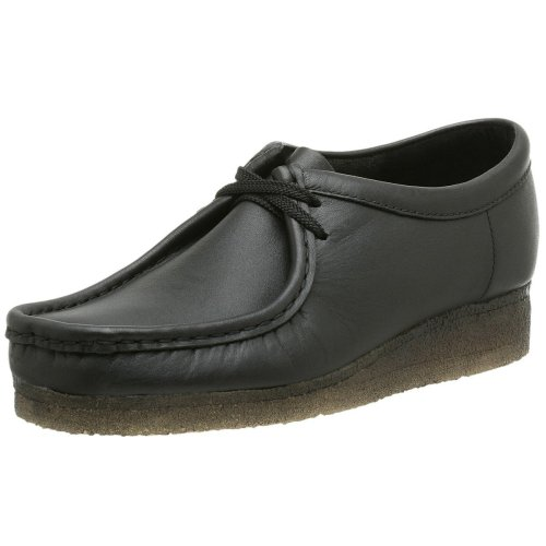Clarks Originali Mens Wallabee Oxford, Vecchia Pelle Nera, 11,5 M