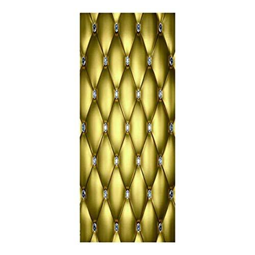 Adhesivos Decorativos engrosados ??para Puertas, Autoadhesivo, para Puerta extraíble, Papel de Pared para el Dormitorio...