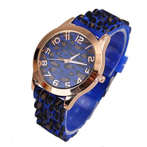 Waist Watch Geneva Leopard Wrist Watches Men Fashion Unisex Silicone Wristwatch Jelly Gel Quartz Analog Wrist Watch Relogio Masculino