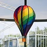 Windspiel - Satorn Balloon SPIRAL - wetterbeständig - Ballon:Ø23cm x 48cm, Korb: 4.5cm x 4cm - inklusive Aufhängung