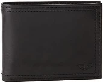 Dockers Men's Extra Capacity Leather Bifold Wallet, Black, One Size