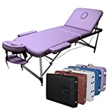 """3-Section Aluminum 84""""L Portable Massage Table Facial SPA Bed Tattoo w/Free Carry Case"""