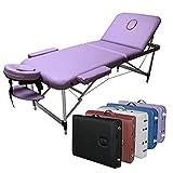 "Best Massage Tables - 3-Section Aluminum 84""L Portable Massage Table Facial SPA Review"
