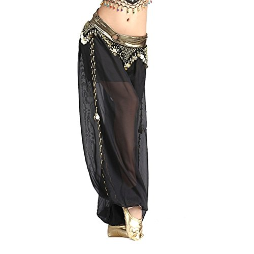 Belly Dance Chiffon Rings Coins Lantern Pants Dancing Tribal Harem Costume (Coin Tribal Belly Dance)